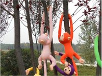 Wholesale Tails Doll - Wholesale- 70cm long arm monkey from arm to tail plush toy colorful monkey curtains monkey stuffed animal doll for kids gifts style209kk