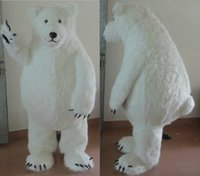 Wholesale Polar Bear Costume Adult - brand new big fat furry polar bear mascot costume for adult sea bear mascot suit for sell free shipping