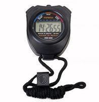 cronómetro temporizador gratis al por mayor-Reloj de cronómetro de los nuevos deportes Cronómetro profesional del cronómetro del LCD Digital Contador del contador de tiempo DHL FEDEX free