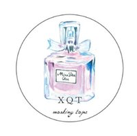 Wholesale C Perfume - Wholesale- 2016 Perfume Bottle Washi Paper Tape Adhesive Scrapbooking Tools Kawaii For Photo Album Decorative Christmas Craft Gift Paper C