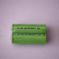 ingrosso aa battery-Giocattoli di trasporto libero baterry Ni-MH AA 1.2 V 600 mAh Basso autoscarica batteria ricaricabile batteria rasoio 10 pz / lotto