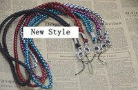 Wholesale Cell Phone Hand Wrist - nylon braided wrist hand cell phone mobile chain straps keychain Charm Cords DIY Hang Rope Lariat Lanyard hot