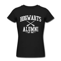 Women harry potter fabric - Harry Potter Hogwarts Alumni Est T Shirt women men tee size S XL special price thin cotton fabric