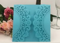 Wholesale wedding invite cards free - Hot selling light color wedding cards invites,laser cut hollow wedding invitations cards with modern designs with good price DHL free