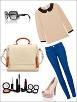 coreano saco coroa venda por atacado-2015 nova versão coreana da coroa britânica dupla puxar moda bolsa de ombro portátil Messenger Bag bolsas retro