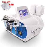 Wholesale Dual Frequency Radio - Pro Salon Cavitation Cellulite Removal Radio Frequency Skin Tightening Cold Slimming Dual Handle Cooling Machine