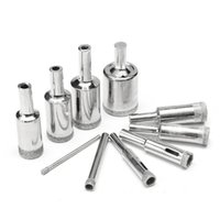 10 Unids 3-25mm Diamond Drill Bits Set Glass Marble Granite Hole Saw Cutters