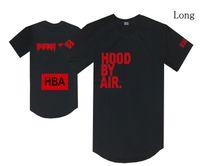 trill t-shirts großhandel-Haube durch Luft T-Shirt HBA war trill T-Stücke schwarze Hip-Hop-Streetwear beiläufige lange Oberseiten Mannfrauen Baumwoll-O-Ansatz s-xxl Rabatt