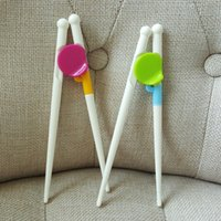 Wholesale Kids Training Chopsticks - New Style Kids Children Early Learning Training Designed Chopsticks Baby Enlightenment Chopsticks Candy Color Free Shipping