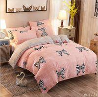 Wholesale Orange Comforter Sets Queen - 2017 winter Aloe vera cotton printed home textile