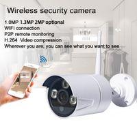 Wholesale ir waterproof wireless ip camera - H210W5A 720P WIFI IP Camera IR CUT ONVIF P2P Bullet Camera outdoor Waterproof CCTV Security Surveillance Camera with AP Hotspot ann