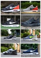 Wholesale Cheap Net Lighting - 2017 Drop Shipping Wholesale Running Shoes Men Women Thea Print 87 Cheap Sneakers High Quality MAX87 Fashion Sports Shoes Net surface