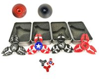 Wholesale Superman Batman Tops - Hand Spinner Triangle Spiderman batman superman american Fidget Spinners EDC Metal Finger Toy For Autism And ADHD Spinning Top