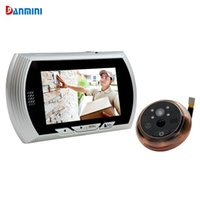 Wholesale Night Viewer - Danmini Smart Digital Door Viewer Peephole Camera with PIR Motion Detection Night Vision DND Function 4.3 inch HD Color Screen Smart +B