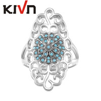 Wholesale Asian Filigree - KIVN Fashion Jewelry Pave CZ Cubic Zirconia Filigree Antique Vintage Wedding Rings for Women Birthday Girls Mothers Day Gifts