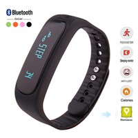Wholesale Bracelet Bluetooth Sms - E02 Bluetooth Smart Bracelet Waterproof Anti-Lost Sports Sleep Monitor Call SMS Remind Smartband Watch For Android iPhone watch