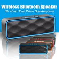 hoparlörlü mobil iphone toptan satış-Eller-Serbest aramalar Taşınabilir Müzik Hoparlörler iPhone Için 3 W 40mm Çift Sürücü Hoparlör Serin Bluetooth Hoparlörler Cep Telefonları