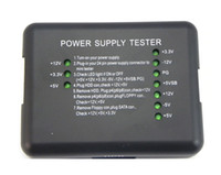 Wholesale Pc Power Supply Testers - Wholesale New 20  24 Pin PSU SATA HDD Port PC ATX Power Supply Tester for Desktop PSU Diagnostic Tool