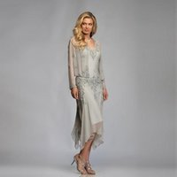 Wholesale jacket tea length lace wedding dresses for sale - Group buy Custom Made Formal Dress Tea Length Pleated Brides Mother Dresses For Wedding Sweetheart Lace Mother of the Bride Dresses Suits With Jacket