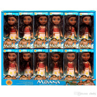 "Wholesale Vinyl Boxes - 6"" Moana Barbie Dolls Vinyl glue Classic Moana Pincess Plastic Dolls Action Figure toys for Girls box pack"