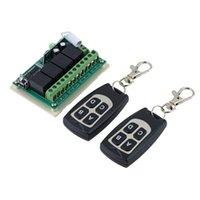 Wholesale Receiver Transceiver - CHJ-C70 100-4 Wireless 12V 4CH 200M Remote Control Relay Switch Transceiver + Receiver!
