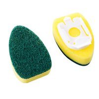 Mother's Day sponge dish brush - 2Pcs Dish Wand Cleaner Sponge Soap Dispenser Scrubber Cleaner Dish Wand Brush Accessories