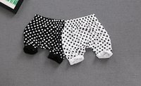 Girl sports leisure clothing - 2017 girls dots cotton leisure harem pants baby big ass pants year old children s clothing five part sports underwear