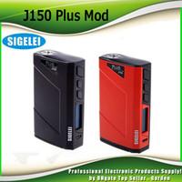 Wholesale temperature controlled - Original Sigelei J150 Plus Box Mod Temperature Control TC Mod Authentic 150w Ecig Mods 100% Genuine DHL Free 2207042