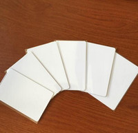 Wholesale blank cards chips resale online - 100pcs High Chip Frequency RFID F08 MHZ IC custom blank plastic pvc cards Readable Writable Rewrite for Access Control