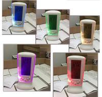 horloge date température achat en gros de-Horloge à LED avec thermomètre de calendrier Couleurs changeantes Affichage de date de température numérique Horloge à LED