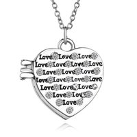 Wholesale free hot mom - 2017 hot sale mother's day gift necklace retro necklace heart shape box neckace free shipping great gift for mom 161174