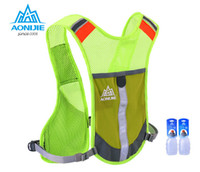 Wholesale Safety Vest Blue - Wholesale-AONIJIE Marathon Reflective Vest Bag Sport Running Cycling Bag for Women Men Safety Gear With 2Pcs 250ML Water Bottles
