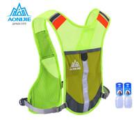 Wholesale Cycling Gear For Women - Wholesale-AONIJIE Marathon Reflective Vest Bag Sport Running Cycling Bag for Women Men Safety Gear With 2Pcs 250ML Water Bottles