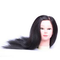 peluquería al por mayor-Coolhair 100% cabello humano Cabeza de entrenamiento de cabeza de maniquí Peluquería práctica Maniquí Cabeza de muñeca para la venta