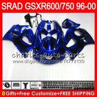 Wholesale 1996 Gsxr - 8 Gifts 23 Colors For SUZUKI SRAD GSXR750 GSXR600 96 97 98 99 00 gloss blue 5HM31 GSX R600 GSXR 600 750 1996 1997 1998 1999 2000 Fairing Kit
