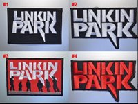 Wholesale Rock Band Jacket Patches - LINKIN PARK iron on patches black embroidery fabric Music Band Patch jacket jeans applique Rock Punk Badge wholesale