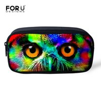 Wholesale Owl Organizer - Wholesale- Cool Women Multifunctional Cosmetic Bag Animal Owl Printing Makeup Bag Storage Pouch Organizer School Boys Girls Pencil Bag Case