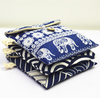 Wholesale Wholesale Women S Purses - Zakka Mini Purse Retro Cotton Cloud Elephant Beard Fresh Sanitary Napkin Storage Bags Organizer Women Napkin Jewelry Packaging Case