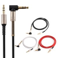 Wholesale Angle Speakers - 1M 3FT 3.5mm audio Aux Cable Gold Plated 90 Degree Angle Audio Cable for iphone speaker Headphone Mp3 PC Mp4