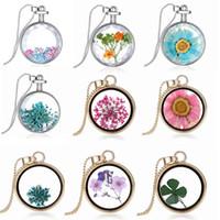 Wholesale Tin Perfume - Locket Necklace Floating Charms Locket Necklace Glass Perfume Floating Charms Locket For Jewelry Wholesale 9 Colors