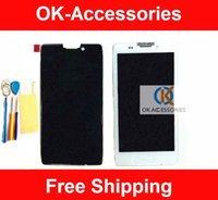 Wholesale Droid Lcd Screen - Black Color 1PC Lot For Motorola Droid RAZR HD XT926 XT925 LCD Display +Touch Screen Digitizer