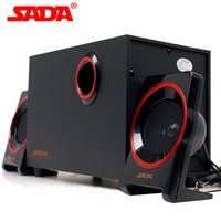 Wholesale Cheap Computer Notebooks - 2017 wholesale and retail high quality cheap notebook USB2.1 stereo wood desktop computer multimedia small speakers good gift + computer per