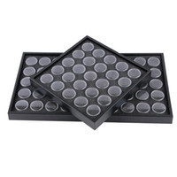 Wholesale Manicure Storage Cases - Wholesale- Empty 25 50 Space Nail Art Powder Gems Rhinestone Storage Container Case Box Plate Manicure Tool