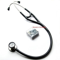 Wholesale Medical Cardiology - Wholesale- Drop shipping new Kindcare kt119 Professional Stainless Cardiology Stethoscop Classic with name Tag Kindcare medical system
