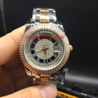 Wholesale Diamond Stone Saw - Full diamond day big stone bezel date luxury watch automatic Rome digital brand men's watch please contact us to see more pictures