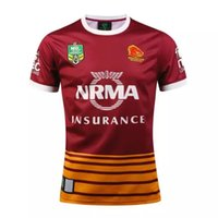 Wholesale Cheap Christmas Gifts Free Shipping - AIG Super Brisbane Wild horse Rugby shirt teams Sport free shipping Wholesale Cheap Shirt promotion present birthday gift Christmas