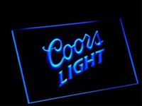 Wholesale coors neon signs - Coors light beer bar 3d signs culb pub led neon light sign home decor crafts