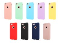 Wholesale Iphone 5s Color Cases - Candy color and cheaper Case phone cover Ultra Thin Soft TPU case for Iphone 5 5S 6 6s 7 7 plus