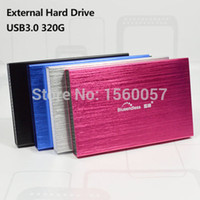 Wholesale Mobile Hard Drive 2tb - Wholesale- Free shipping 2.5'' Original Mobile Portable HDD 320GB High speed USB3.0 External Hard Drive Storage Disk Plug and Play on sale