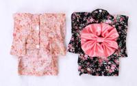 Wholesale Wholesale Japanese Kimonos - The Japanese kimono Pet Dog cat Clothes Pet Supplies Dog Cotton Dress Pink warmth Free shipping 036